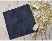 Шелковый халат темно-синий