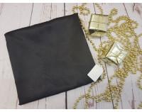 Шелковый халат черный