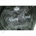 Шелковый именной халат с вышивкой  имени, короны 11 и вензеля 4