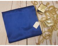 Шелковый халат синий