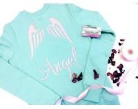 """Толстовка свитшот с индивидуальной вышивкой """"Angel"""""""