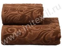 """Полотенце люкс с эффектом велюра """"Costanza"""" шоколад"""