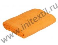 Простынь махровая оранжевая