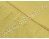 Простынь на резинке махровая, желтая