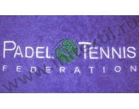 """Вышивка логотипа """"Padel tennis"""" на полотенце"""
