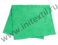 """Полотенце махровое """"Classic"""" с греческим бордюром, зеленое"""