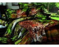 """Постельное белье """"Леопард в природе"""" мако сатин 3D"""