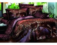 """Постельное белье """"Сон леопарда"""" мако сатин 3D"""
