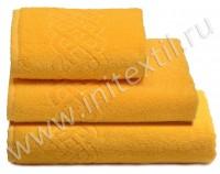 """Полотенце махровое """"Plait"""", желтое"""