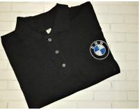 """Поло с вышивкой логотипа """"BMW"""""""