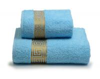 """Полотенце махровое """"Meandro"""" голубое"""