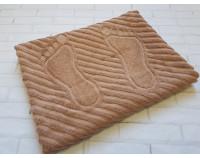 Полотенце коврик для ног махровый бежевый
