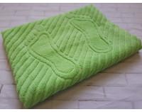 Полотенце коврик для ног махровый оливковый