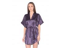 Шелковый халат пурпурный