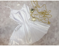 Комбинация шелковая, белая