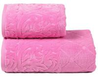 """Полотенце люкс с эффектом велюра в бордюре """"Incoronare"""" розовый"""