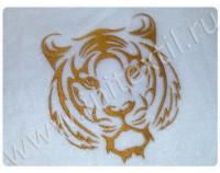 """Халат махровый классический с вышивкой """"Тигр 1"""""""