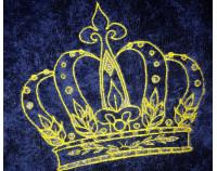 """Именной халат классический с вышивкой """"Корона 13"""""""