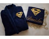 """Махровое полотенце """"Superman"""" с именем"""