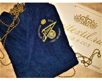 """Халат махровый классический с вышивкой логотипа футбольного клуба """"Зенит"""""""